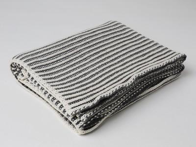 Pluchi Plain Single Throw Grey