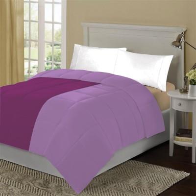 KIAANA USA Plain Single Quilts & Comforters Egg Plant, Lilac