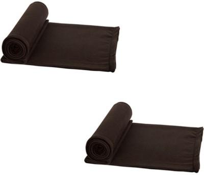 Aazeem Plain Single Blanket Brown
