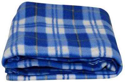 Sheetal Checkered Single Blanket Blue