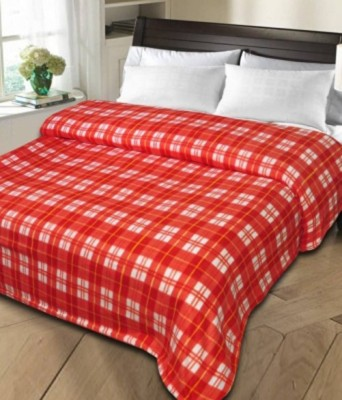 Magical Checkered Single Blanket Red