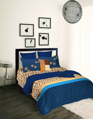Tangerine Abstract King Quilts & Comforters Blue, Beige