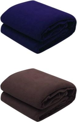 SS furnishings Plain Double Blanket Multicolour