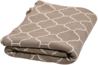 Pluchi Geometric Single Blanket Beige
