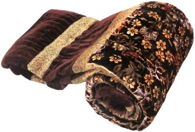 Me Home Damask Single Quilts & Comforters Brown