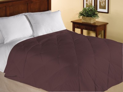Home Bee USA Plain Single Quilts & Comforters Brown