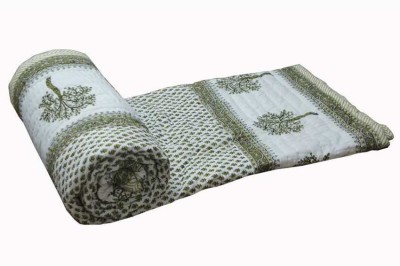 KRG ENTERPRISES Floral Double Quilts & Comforters White