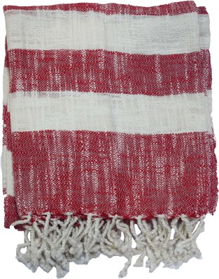 Belle Maison Striped Single Throw Red