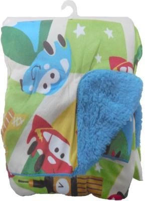 BornBabyKids Floral Crib Blanket Green