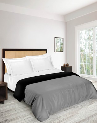 Tangerine Plain Double Quilts & Comforters Grey, Black