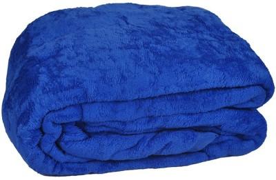 Bigshoponline Plain Double Blanket Blue