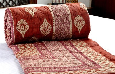 Cat Eye Export Floral King Quilts & Comforters Red