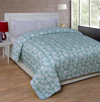 Shivalik Floral Double Quilts & Comforters Green