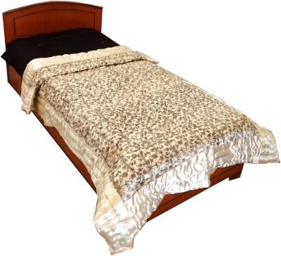 Rajasthan Crafts Floral Single Quilts & Comforters Beige