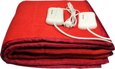 LeoSpark Plain Double Electric Blanket Red