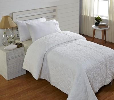 Stoa Paris Plain Single Quilts & Comforters White