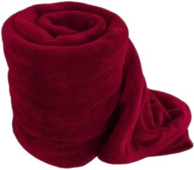 Saksham Plain Single Blanket Maroon