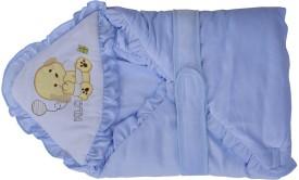 Kidzvilla Cartoon Crib Hooded Baby Blanket Blue(AC Quilt, Baby Warp)