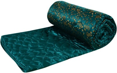 Ooltah Chashma Floral Double Quilts & Comforters Green
