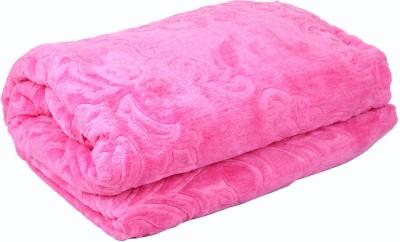 Satcap Floral Double Blanket Fine Pink