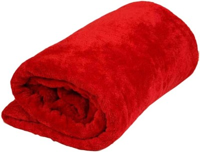 Bigshoponline Plain Double Blanket Red