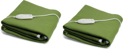 Expressions Plain Single Electric Blanket Green