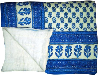 Sellstra Floral Double Quilts & Comforters Blue