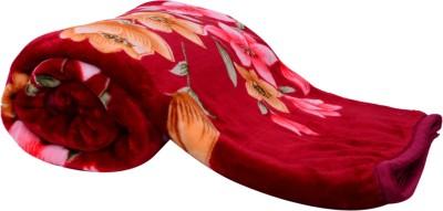 Light Gear Mink Floral Single Blanket Multicolor