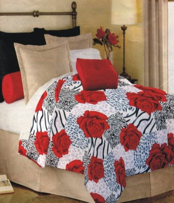 Fabutex Floral Single Quilts & Comforters Red