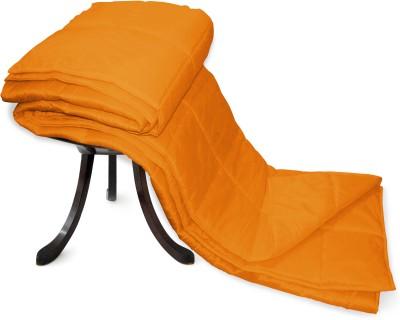 Zikrak Exim Plain Single Blanket Orange