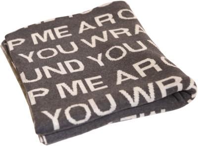 Pluchi Abstract Single Blanket Grey