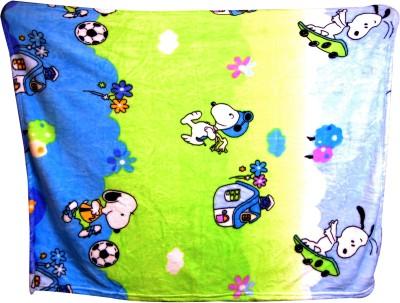 U & Me Cartoon Single Top Sheet Green, Blue