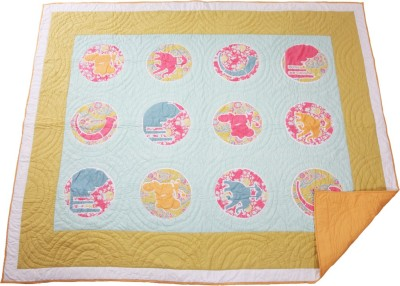 Pink Guppy Abstract Double Quilts & Comforters Blue