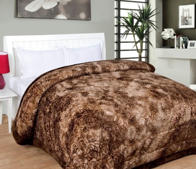 Dayal Overseas Embroidered Double Quilts & Comforters Brown
