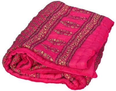 Ayushi Craft & Fashions Double Quilts & Comforters Pink