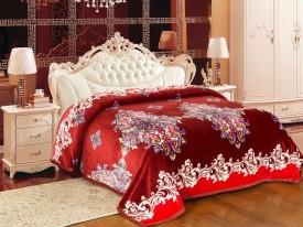 Signature Floral Single Blanket Marron(Coral Blanket)