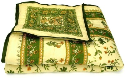 Style and Fashion Floral Single Quilts & Comforters Green