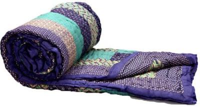 KRG ENTERPRISES Floral Single Quilts & Comforters Purple