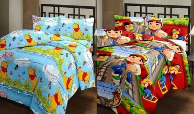 Furry Printed Single Blanket Multicolor