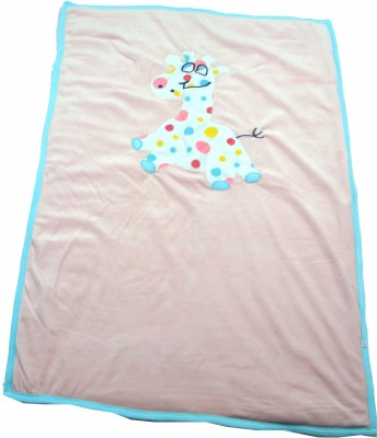 Ahad Plain Double Blanket Pink