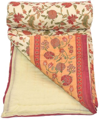 Stole & Yarn Floral Double Quilts & Comforters Maroon