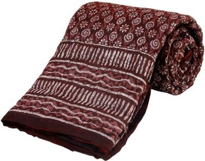 Kiran Udyog Floral Single Quilts & Comforters Maroon