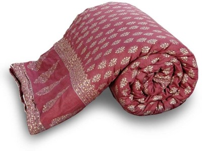 UFC Mart Floral Double Quilts & Comforters Maroon