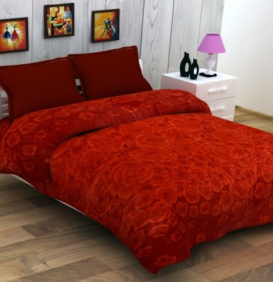 Enfin Homes Floral Double Blanket Red