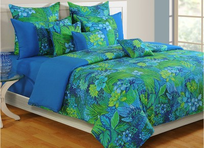 Swayam Floral Single Quilts & Comforters Blue, Green