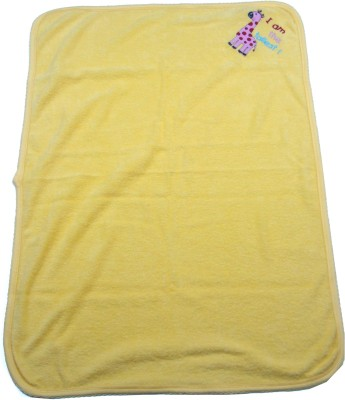 Ahad Plain Single Blanket Yellow