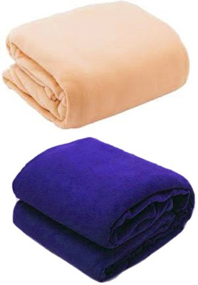 Galaxy Plain Single Blanket Camel, Navy Blue