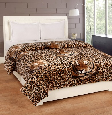 Bed & Bath Abstract Double Blanket Brown, Beige
