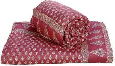 Indigocart Paisley Double Quilts & Comforters Maroon