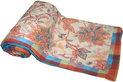 Elan Dreams Floral Single Dohar Multicolor